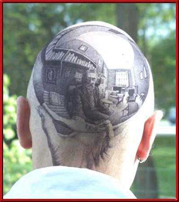 Sweet tattoo, it looks like back hair from a distance. Alright, awesome.