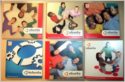 Ubuntu Cd Artwork 5.10 to 8.04