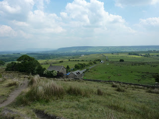 View over Fell Foot to Longridge Fell