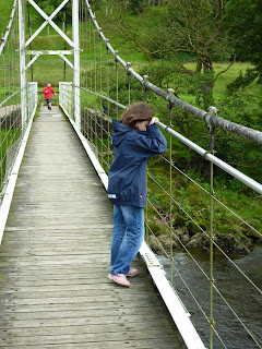Dinckley Footbridge - Holly rests