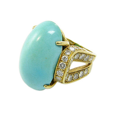 turquoise and diamond ring @ máriel's castle