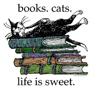 books. cats. life is sweet.