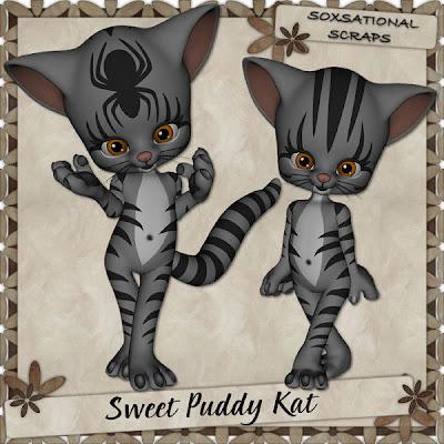 Sweet Puddy Kat - By: Soxsational Scraps TW-SPK+P