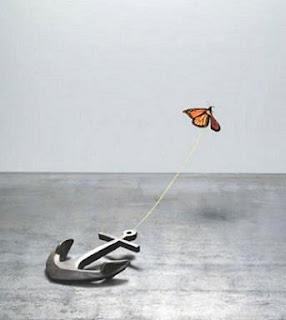 Mariposa ancla realista imposible
