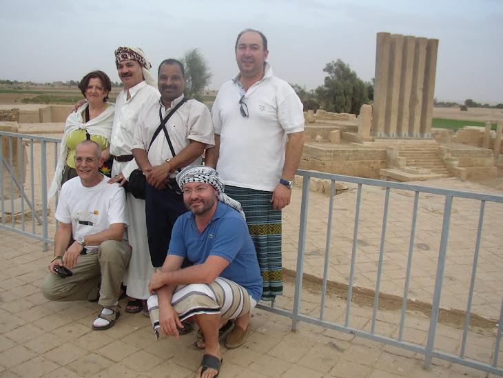 Con los amigos en Yemen