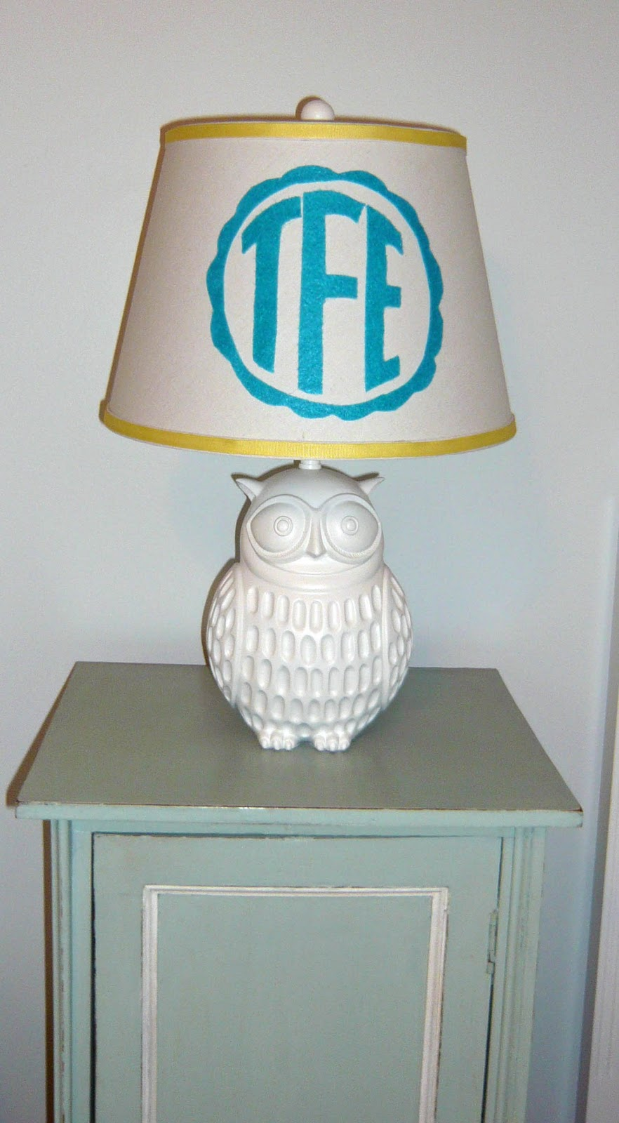 Designing domesticity monogram lamp shade mozeypictures Image collections