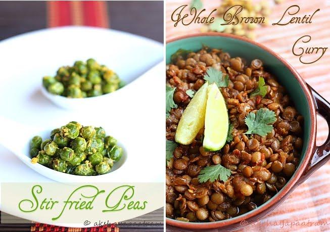 Stir fried Peas & Lentil curry