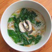 soupe de vermicelles épinards