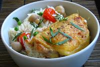 poulet à l'estragon et riz