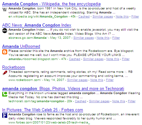 Amanda Congdon Search on Google
