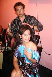 Enrique Vega maquilla a Sarahith Fernández Bravo, Señorita Turismo y Cultura Veracruz 2009