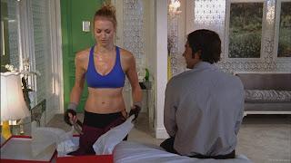 Yvonne Strahovski in a sports bra