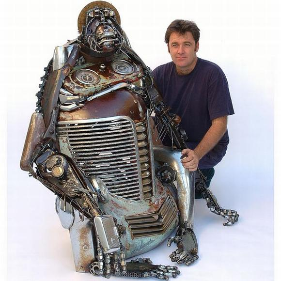 11 amazing Sculptures made By Car Parts 2