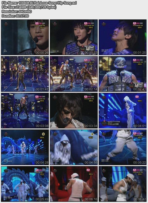 [100408] Bi (Rain) - Love Song & Hip Song [234M/avi] 100408.Bi.RainLove+Song%2BHip+Song