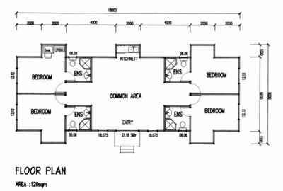 Living dexigns news example floor plans for 3 bedroom ensuite house plans