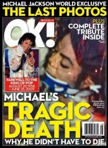 Ok Magazine Michael Jackson cover picture