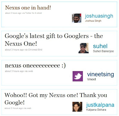 Google employee tweets