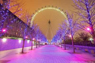 London Eye during Christmas