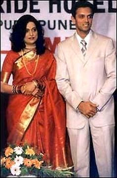 Rahul Dravid and his wife Vijeta photos