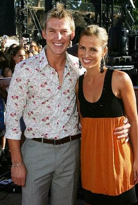 Brett Lee and his wife photo