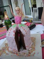 Glacage gateau barbie