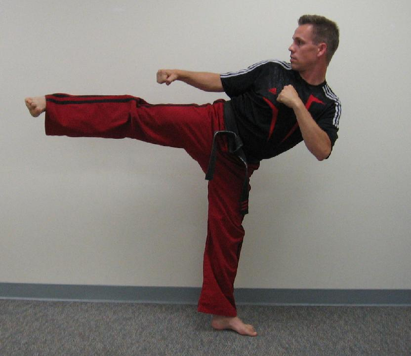 karate side kick