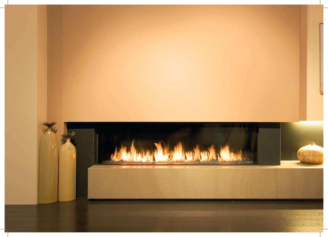 Design gas or ethanol fireplace