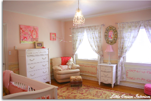 Pink Baby Girl Nursery Room