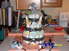 Elephant Themed Baby Diaper Cake