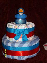 "2 Layer Boy ""Rubber Ducky"" Cake"