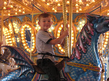Harrison on the carousel