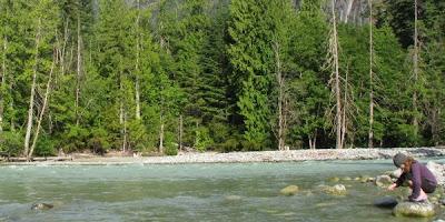 Campingplads i Nairns Falls Provincial Park, British Columbia, Canada