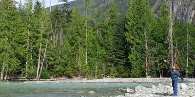 Floden ved campingplads i Nairns Falls Provincial Park, British Columbia