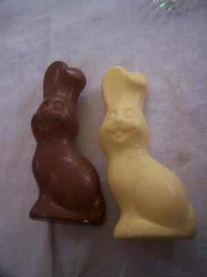 Lapins en chocolat pour Pâques