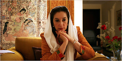 Benazir Bhutto pakistan portrait