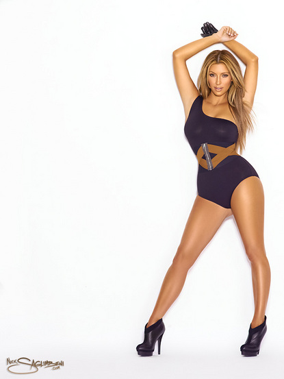 The Kim Kardashian 2011 calendar was shot by celebrity photographer Nick
