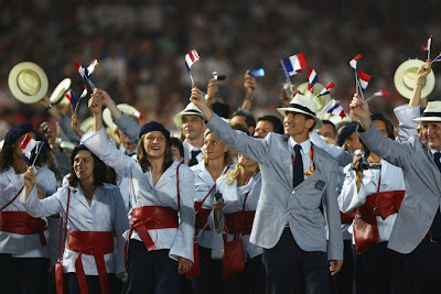 olympics uniform opening ceremony best dressed top switzerland france USA italy Great Britain photos blog