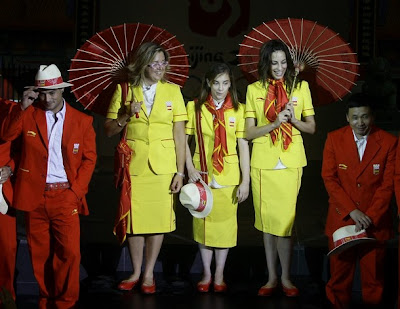 beijing china olympics uniform 2008 spain españa team detail results opening fashion blog photos