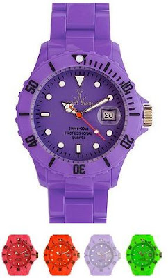 Leonardo Dicaprio Oprah Madonna toy watch USA plastic bright colors purple green red neon