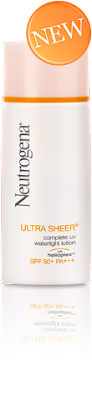 neutrogena ultra sheer waterlight spf 50 facial sunblock
