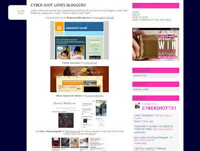sony cybershot loves bloggers