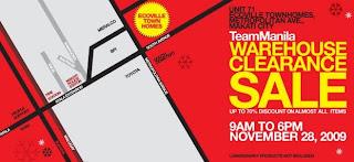 Team Manila Warehouse Clearance SALE