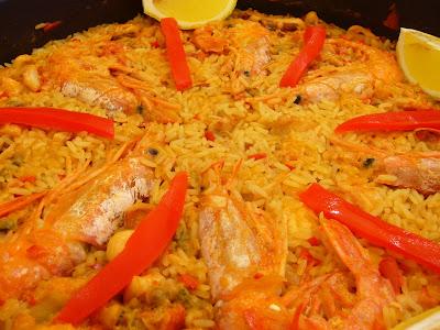 Irene en la cocina paella de pescado y marisco - Paella de pescado ...