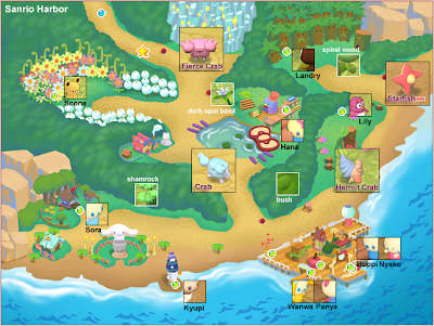 Sanrio Harbor Map