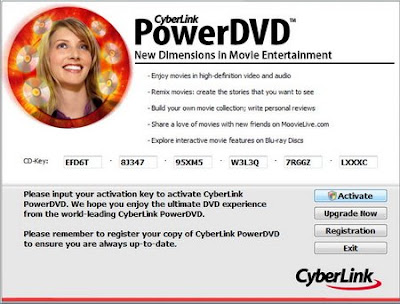 cyberlink powerdvd 7 activation key
