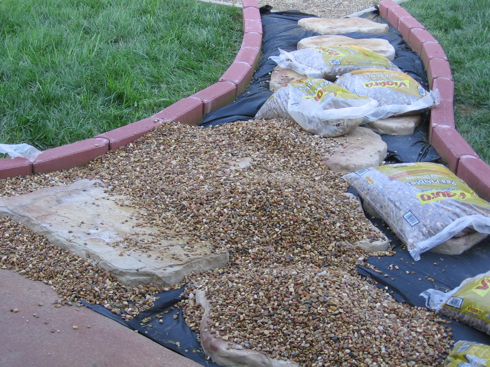 Landscaping Gravel At Lowes : Vanilla bean backyard reveal