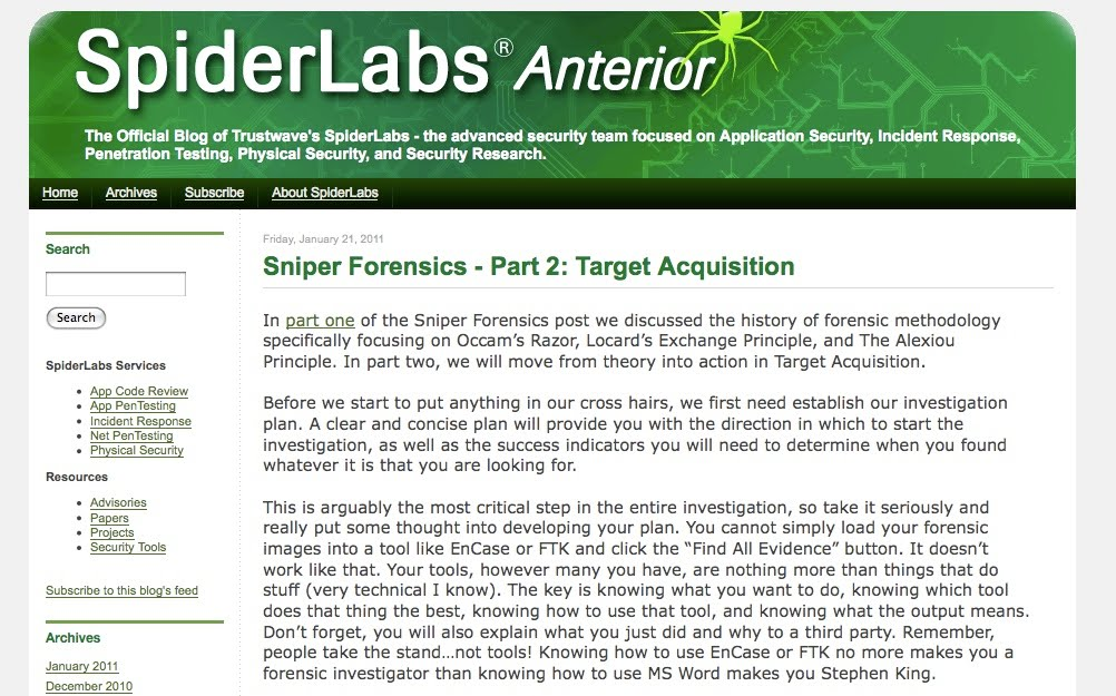 the digital standard  sniper forensics part 2 posted