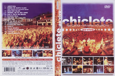 capa de DVD do filme Chiclete Com Banana