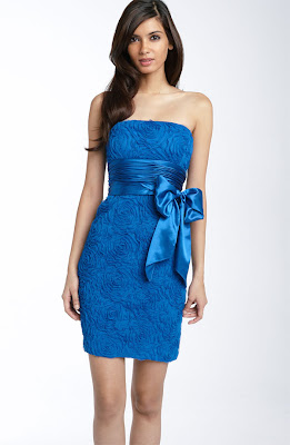 Adrianna Papell Rosette Strapless Sheath Dress