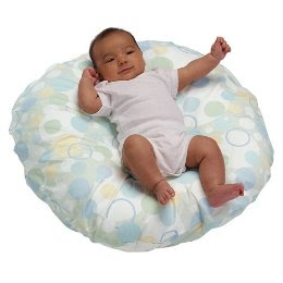 Boppy Newborn Lounger with Slipcover Blue Bubbles